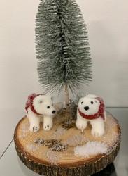 Joulu asetelma jääkarhuilla