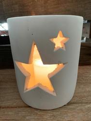 Keraaminen tähti astia, valkoinen