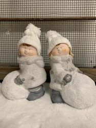 Lumipallo lapset, keramiikka