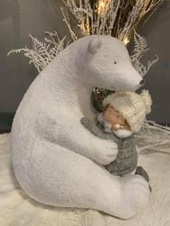 Iso jääkarhu Norah, keramiikkaa