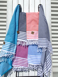 Hamam pyyhe WINDY, pinkki, 100x180cm
