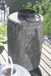 Marokkotyylinen tumma metallilyhty, koko XL