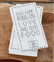 Paper Napkin Love and Good Food
