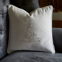 Christmas Tree Pillow Cover silver 40x40