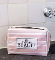 All Natural Beauty Cosmetic Bag pink