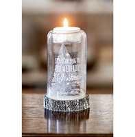 Merry Christmas Tealight Holder silver