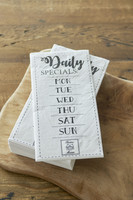 Paper Napkin Daily Specials