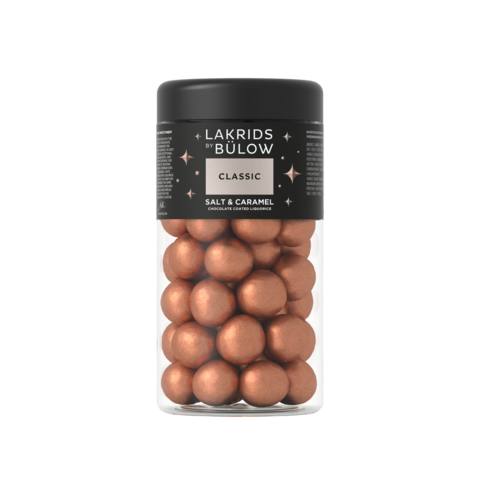 Lakrids By Bulow Classic - Salt & Caramel suklaakuorrutteinen lakritsi 295g