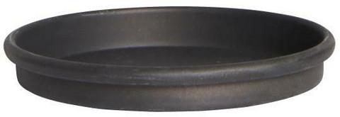 Kynttiläalusta, musta, metallia, halkaisija 8cm