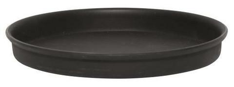 Kynttiläalusta, musta, metallia, halkaisija 11cm