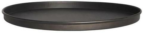 Kynttiläalusta, musta, metallia, halkaisija 22cm