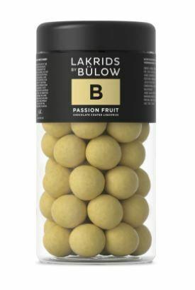 Lakrids By Bulow B - Passion Fruit suklaakuorrutteinen lakritsi 295 g