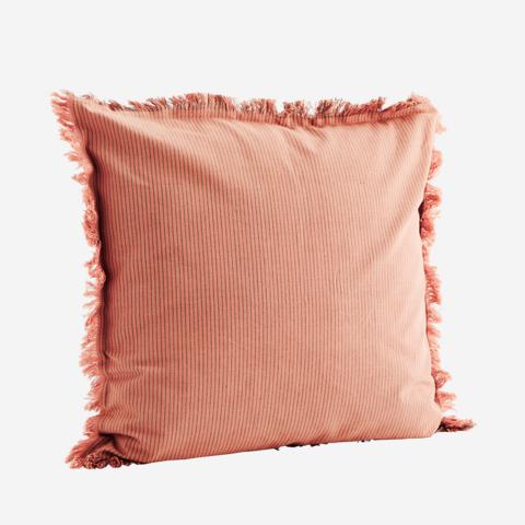 Tyynynpäällinen hapsuilla, rose, grey