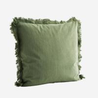 Tyynynpäällinen hapsuilla, jade, grey
