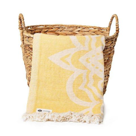 Mandala Hamam pyyhe, keltainen