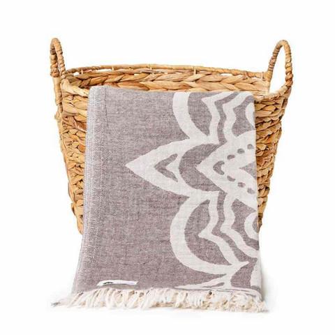 Mandala Hamam pyyhe,ruskea