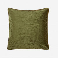 Tyynynpäällinen Velvet, oliivinvihreä
