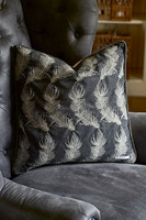Residenza Feather Pillow Cover 50x50 Dark Grey