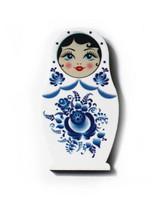 Sinivalkoinen maatuska -jääkaappimagneetti