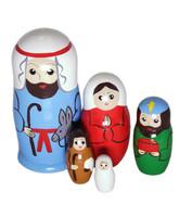 Jeesuksen syntymä jouluyönä-maatuskanukke (5 nukkea sisäkkäin)