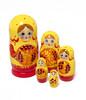 Syksyinen keltainen maatuskanukke (5 nukkea sisäkkäin)