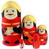 Palomies-maatuskanukke (5 nukkea sisäkkäin)