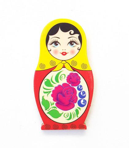 Punakeltainen ruusumaatuska -jääkaappimagneetti