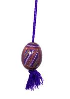Käsinmaalattu violetti Pysanka-muna