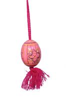 Käsinmaalattu pinkki Pysanka-muna