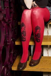 Värikkäät rakkausmaatuska-sukkahousut (eri värivaihtoehtoja)