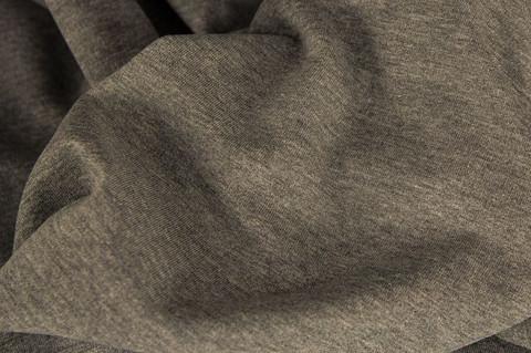 Merinovillaneulos interlock, tumman harmaa