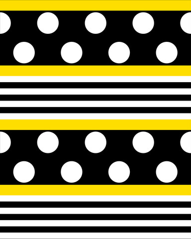 Pallo-raidat keltainen