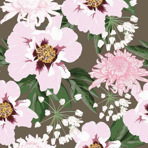 Pinkki-ruskea kukka