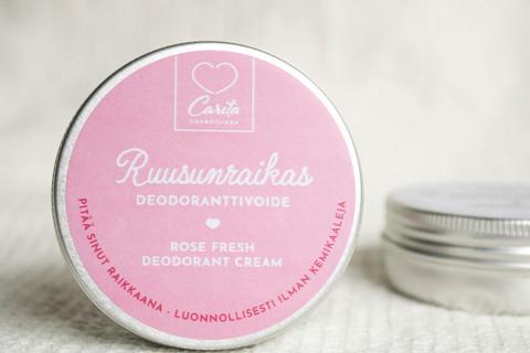Carita Cosmetiikka Ruusunraikas Deodoranttivoide