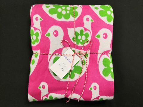Pinkki-vihreä ankkaneulos 100*160cm