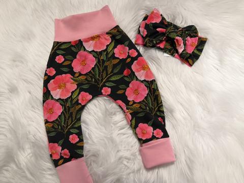 Pinkki-kukka baggyt
