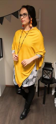 Merinovillainen pontso, keltainen
