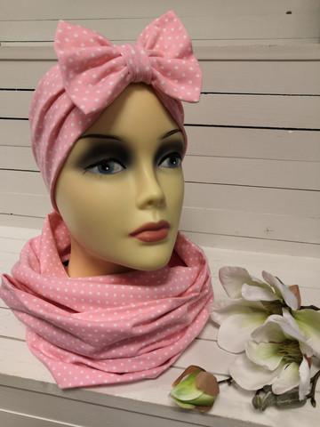 Vaaleanpunainen Minipilkku rusettipanta