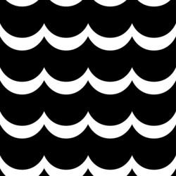 Musta-valkoinen Aalto trikoo