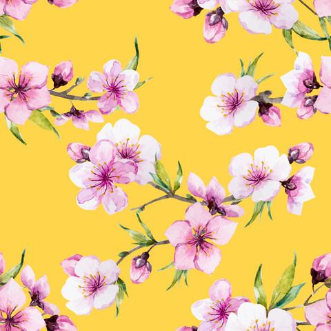 Keltainen Kirsikan kukka, trikoo