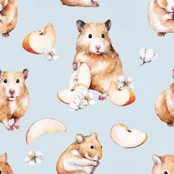 Hamsterit trikoo, vaaleansininen