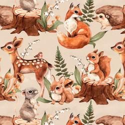 Bambi ja muut metsäneläimet trikoo, nude