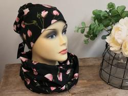 Vaaleanpunaiset Ruusut pitkä tuubihuivi