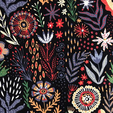 Musta Folk flower trikoo