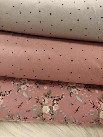 Vaaleanpuna-musta minipilkku trikoo