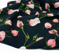 Roses musta-vaaleanpunainen, trikoo
