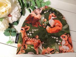 Vihreä Bambi ja metsäneläimet pipo