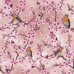 Kirsikankukka trikoo, vaalaenpunainen