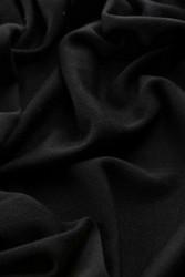 Merinovillaneulos interlock, musta