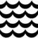 Valko-musta Aaltoinen trikoo